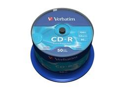 50 דיסקים CD-R לצריבה ורבטים