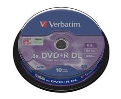 10 דיסקים DVD+R דו צדדיים Verbatim