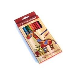 12 עפרונות  צבעוניים איכותיים לאונרדו