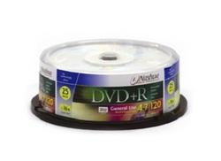 25 דיסקים DVD+R לצריבה Nashua